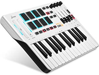 Donner DMK 25 MIDI Keyboard Controller Music Mini Key With 8