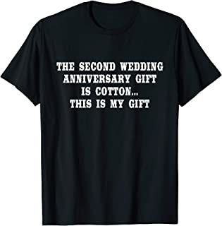 2nd Wedding Anniversary Gifts Cotton Him Husband Her Shirt