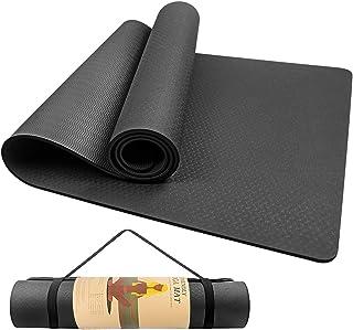 swonuk Esterilla Yoga Antideslizante ecológico TPE Colchoneta de Yoga Pilates Mat para Hombres, Mujeres, Hogar, Gimnasio 1...