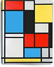 DECORARTS - Ater Piet Mondrian Composition in Blue, red and Yellow Lithograph in Colours. Giclee Prints Canvas Art for Home Decor 24x30 x1.5