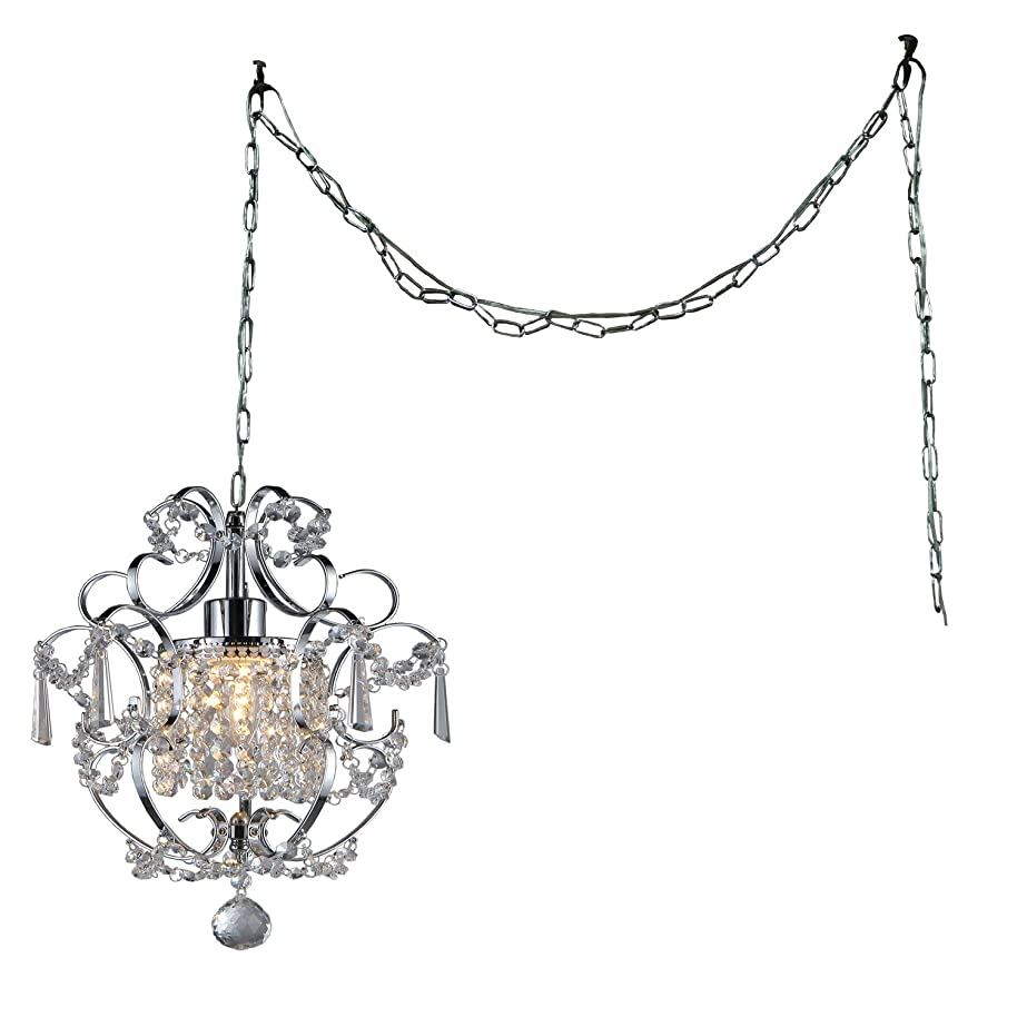 Whse of Tiffany Rl4025 Swag Cynthia 1-Light Crystal 11