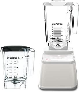 Blendtec Designer 625 Blender - WildSide+ Jar (90 oz) and Mini WildSide+ Jar (46 oz) BUNDLE - Professional-Grade Power - 4 Pre-Programmed Cycles - 6-Speeds - Sleek and Slim - Polar White