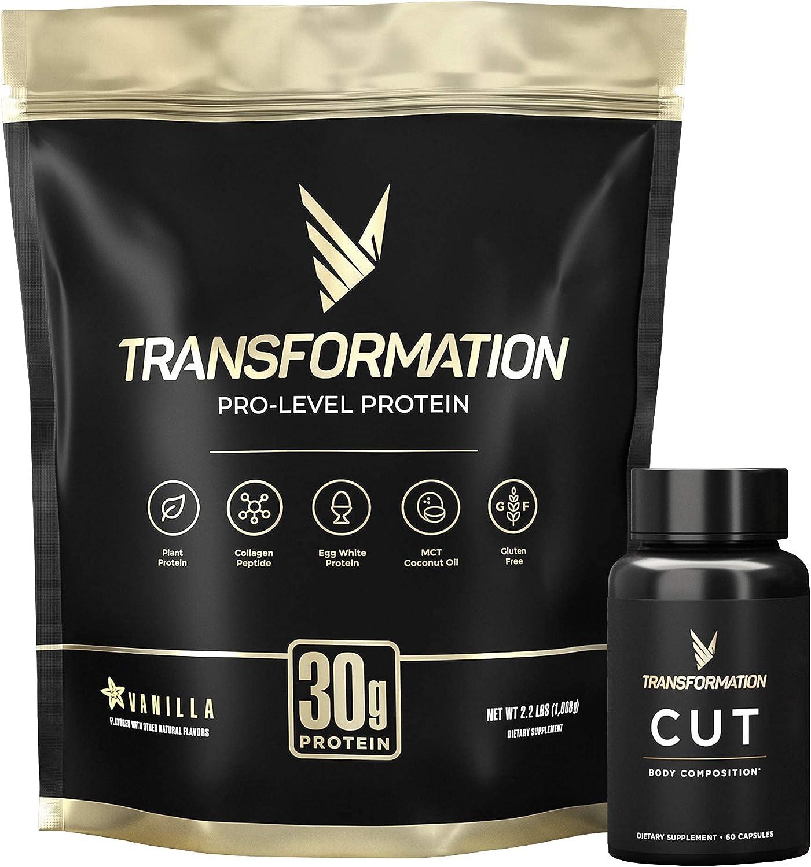 Transformation Vanilla Premium Protein Powder + Cut Luxury Thermogenic New York Mall