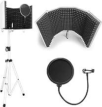 AxcessAbles SF-101KIT-W سفید SF-101 استودیوی ضبط میکروفون جداسازی سپر w / پایه