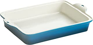 "Lodge STW13RCT33 Stoneware Baking Dish, 9"" x 13"", Blue"