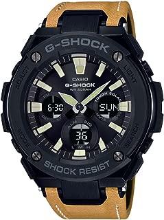 G-Shock Steel Black Dial Leather Strap Men's Watch GST-S120L-1B