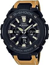 Casio G-Shock Steel Black Dial Leather Strap Men's Watch GST-S120L-1B
