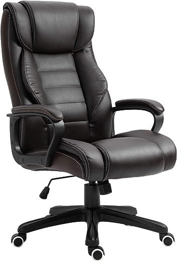 Vinsetto Bürostuhl mit Massage höhenverstellbarer Chefsessel ergonomischer Drehstuhl Gamingstuhl Computerstuhl Massage Sessel 6 Vibrationspunkte…