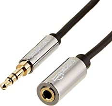 AmazonBasics Male to Female Stereo Audio Cable (Aux Extension Cable) with Gold Plated Connectors- 6 Feet (3.5mm)