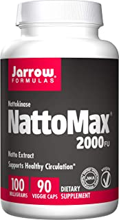 Jarrow Formulas NattoMax, Supports Healthy Circulation,100 mg, 90 Veggie Caps