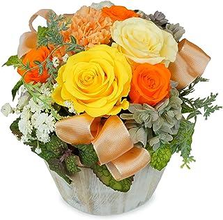 ROSETIQUE アロマ香る プリザーブドフラワー アレンジメント ギフト プレゼント 日本製プリザ 国産(イエロー)