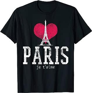 Vintage Paris Eiffel Tower I Love Je T'aime France Gift T-Shirt
