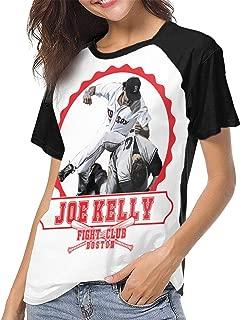 Joe Kelly Fight Club Baseball Short Sleeve Tee Shirts Women Crew Neck Top