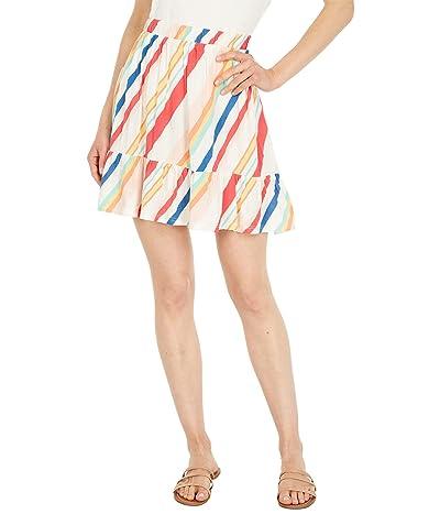 Hurley Rainbow Tiered Miniskirt