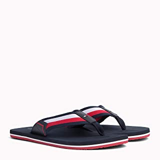 TOMMY HILFIGER Men's Signature Webbing Beach Sandals