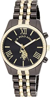 U.S. Polo Assn. Women's Quartz Watch, Analog Display and Gold Plated Strap USC40059