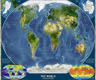 WFYY Pinte con Number Kit, DIY Pintura Al Óleo Mundo MAPE Continentes Oceánicos Geografía Regalos para Niños 70X80Cm Marco Incluido