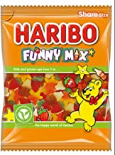Original Funny Mix Fruit Flavour Gummy Sweets Imported From The UK England British Gummy Candy Sweets Haribo Funny Mix Gummy Candy, 140g