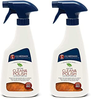 Guardsman Clean & Polish For Wood Furniture - Woodland Fresh - 16 oz Spray - Silicone Free, UV Protection - 461100 Pack of 2