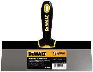 DEWALT 12-Inch Taping Knife   Stainless Steel w/Soft Grip Handle   DXTT-2-137