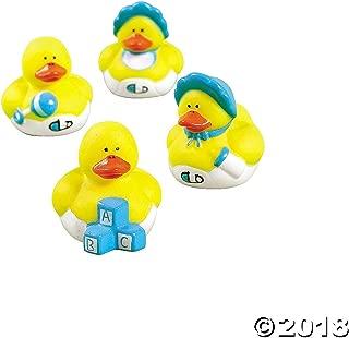 Fun Express Vinyl Mini Baby Shower Rubber Duckies - 24 Pieces