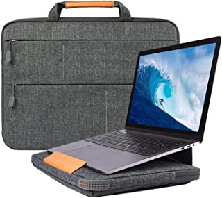 """WIWU Laptop Bracket Bag Case,Polyester Briefcase Handbag Sleeve with Zipper Support Cover forMenWomenCompatiblefor MacBook Air Or Pro/HP/Lenovo/Huawei Fits15/15.4/15.6 Inch(15"""",Grey)"""