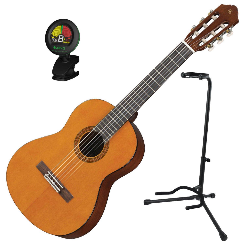 Yamaha CGS102 - Guitarra clásica con afinador y soporte, escala 1 ...