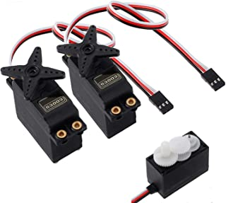 LiNKFOR 2PCS S3003 Servo Motor Standard RC Servo High Speed for Racing Car, Helicopter and Airplane