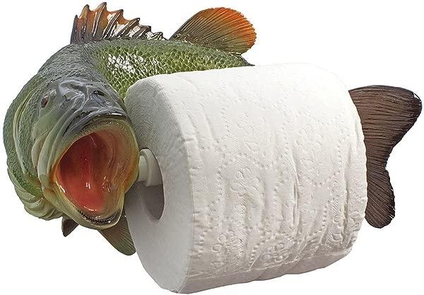 简化公司大口黑鲈厕纸架 Scuplted 石树脂质朴 D 心病
