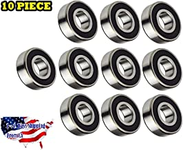 10-Pieces 6206 2RS, C3 Fit Premium Radial Ball Bearing 30x62x16mm, Rubber Sealed Deep Groove