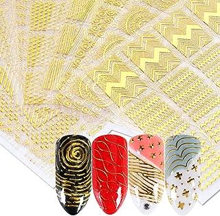 6 sheet Holo Nail Art Stickers Ultra Thin Laser Sticker Silver Stripe Line Nail Strip Tape DIY Foil Decals Nail Art Tips