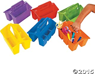 Classroom Storage Caddies - Office Fun & Office Stationery by Oriental Trading Company, 6 Pack (Colors May Vary)
