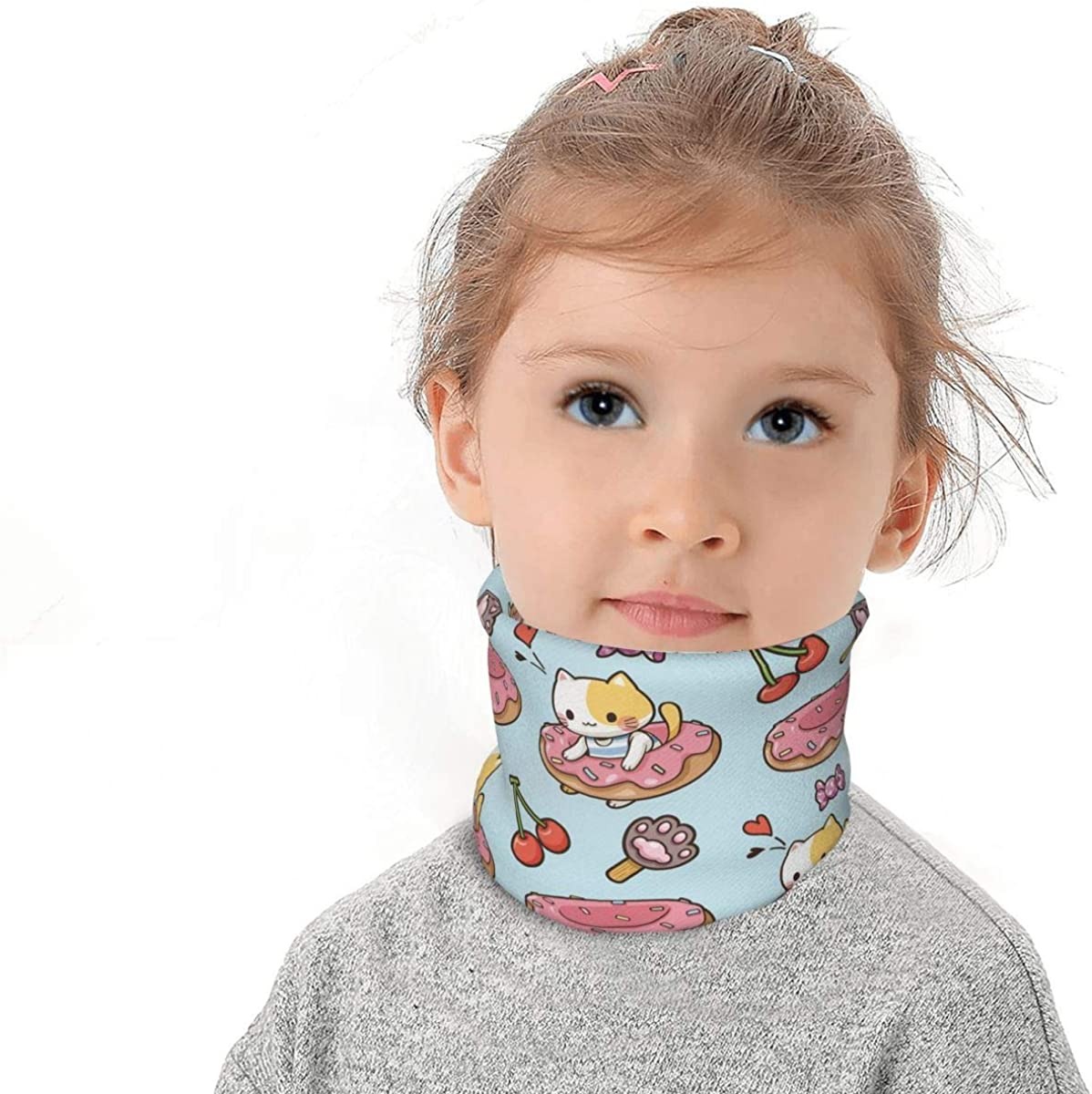 Christmas Pug Dog Kids Winter Rapid rise Neck Gaiter Warmer Bandanas Branded goods Fleece