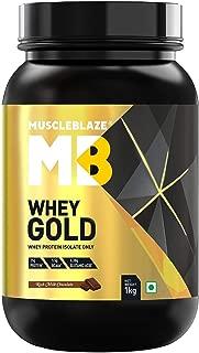 MuscleBlaze Whey Gold Protein, 2.2 lb Rich Milk Chocolate