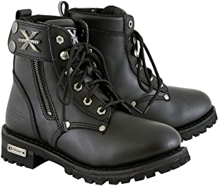 Xelement 2505 `Righteous` Women`s Black Zipper Motorcycle Boots - 7.5