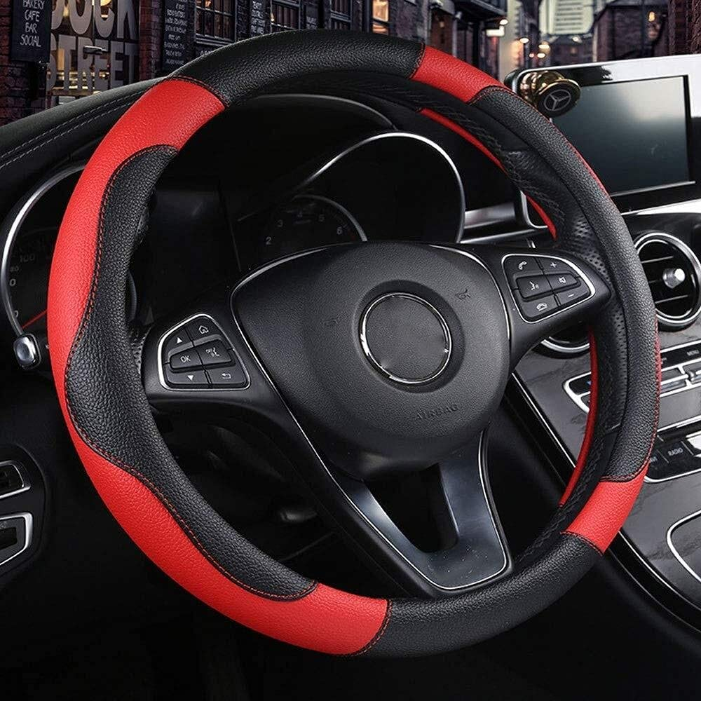 New products, world's highest quality popular! Steering wheel cover covers We Phoenix Mall Leather Microfiber