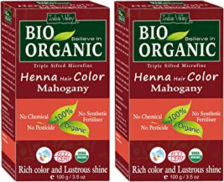 Sponsored Ad - Indus Valley Bio Organic Micro fine Triple Shifted Premixed Henna Hair color with Organic Indigo for Rich C...