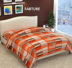 Fabture Razai Cover Double Bed with Zipper (Quilt Cover Double Bed with Zipper) (Double Bed Dohar Blanket)- Orange