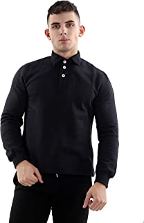 Bahob/® Mens Full-Zip Fleece Zipper Fleece Jacket Casual with Brass zips S-XL