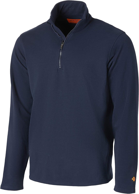 Wrangler Riggs Workwear Men's Fr Flame Resistant 1/4 Zip Fleece
