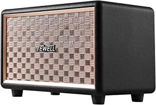 TEWELL Computer Speaker, HD 24W Audio Vintagem Bluetooth Speakers Plug-in Speaker with Extended Bass and Treble, Knob for Volume Control, Toggle Switch and 3.5mm AUX Input