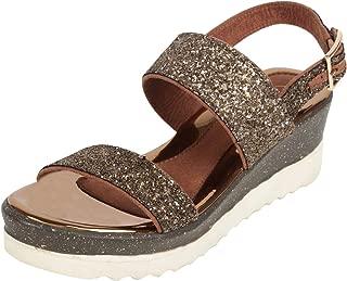 Catwalk Women's Glitter Double Strap Sandals