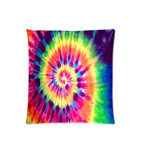 2fe8d1d55f74 Colorful Tie Dye Zippered Pillowcase