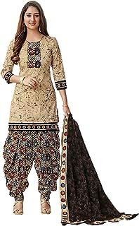 Cloth Clock Women's Crepe & Chiffon Unstitched Salwar Suit