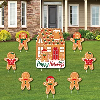 Big Dot of Happiness Gingerbread Christmas - Yard Sign and Outdoor Lawn Decorations - Gingerbread Man Holiday Party Yard S...