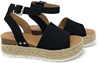 Womens Topic Espadrille Sandal Shoes Black Nubuck