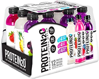 Protein20 Protein20 Infused Water Clear Whey Isolate (12 Bottles 16.9 FL Oz Net Wt 202.8 FL Oz ), 202.8 fl. oz.