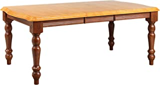 Sunset Trading Oak Selections Dining Table, Medium Walnut with Light Finish