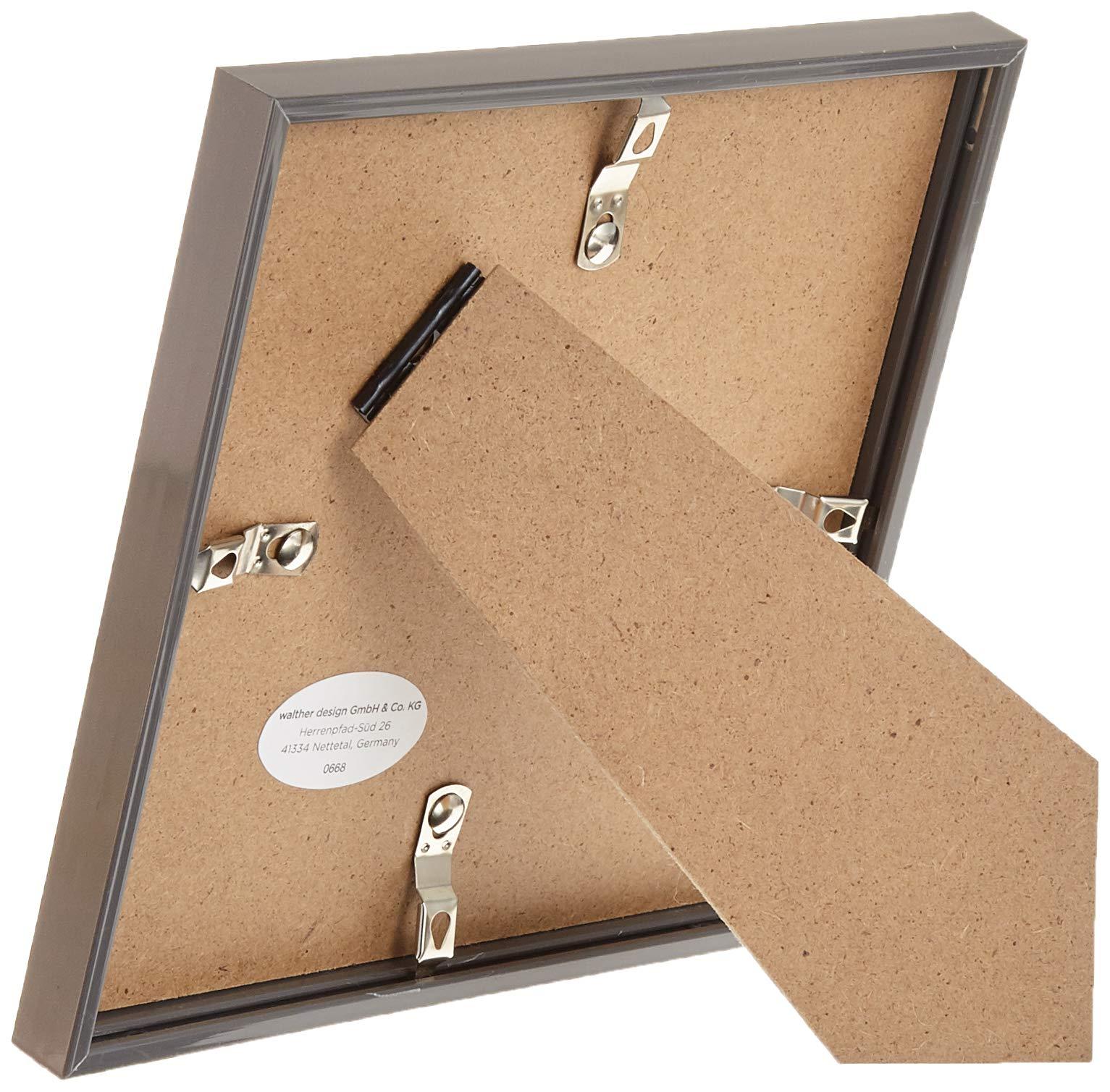 walther design New Lifestyle KST.Rahmen Marco de Fotos, Acero, 15x15 cm: Amazon.es: Hogar