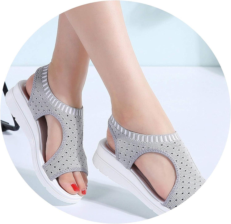 Luuvy-shop sandal Sandals Woman Summer Wedge Comfortable Sandals Ladies Slip-on Flat Sandals Women Sandalias
